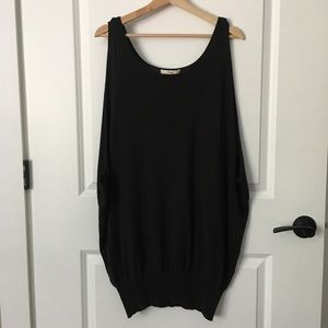 LBD double layer knit dress
